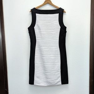 Calvin Klein Colorblock Sleeveless Sheath Dress 14